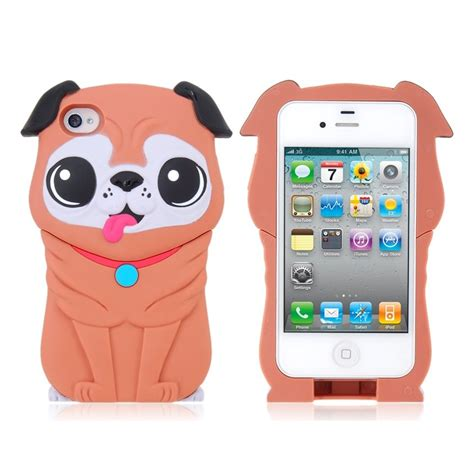 Casing Hp Iphone 4 Iphone 4 S Iphone 5 Iphone 5s Iphone 5c 7 iphone cases 3d pug shape detachable protective for
