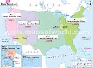 us time zone map dakota les etats unis d 233 calage horaire u s a