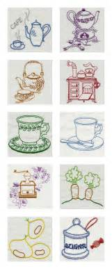 Kitchen Embroidery Designs Free Vintage Kitchen 1 Machine Embroidery Designs Ebay