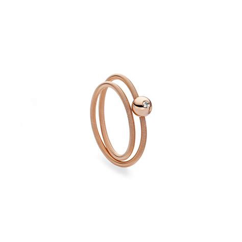 Niessing Ringe by Niessing Ring 171 Colette 187 2 Fach Rotgold Mit Brillant
