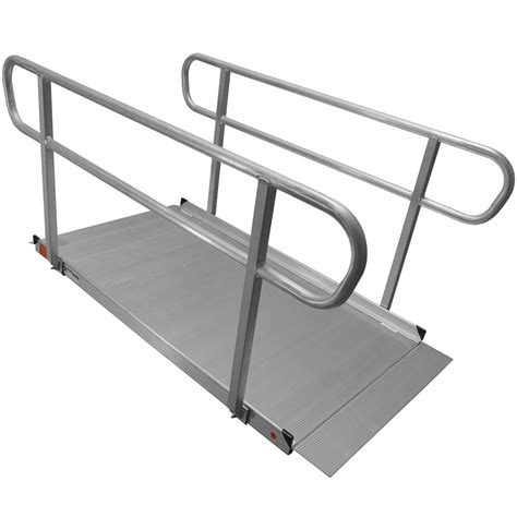 Wheelchair R Handrail Height 6 aluminum wheelchair entry r handrails surface scooter mobility access