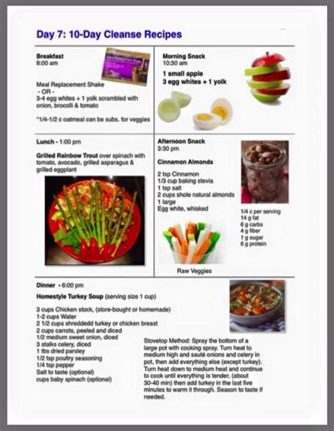 Advocare Detox Menu by Day 7 Ideas For Cleanse Www Advocare 160638714