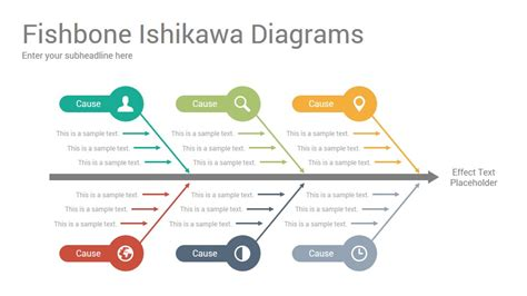 Fishbone Ishikawa Diagrams Powerpoint Template Designs Slidesalad Ishikawa Powerpoint Template