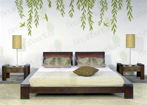 willow tree wall decal tree branch weeping birds removable