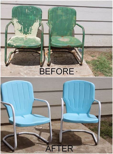 Best Spray Paint For Metal Patio Furniture Best 25 Metal Patio Furniture Ideas On Pinterest Rustic