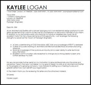 Design Drafter Cover Letter by Architectural Drafter Cover Letter Sle Livecareer