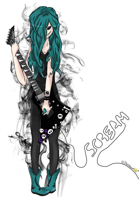 imagenes de anime rock dibujos de mujeres con guitarras electricas parte5 taringa