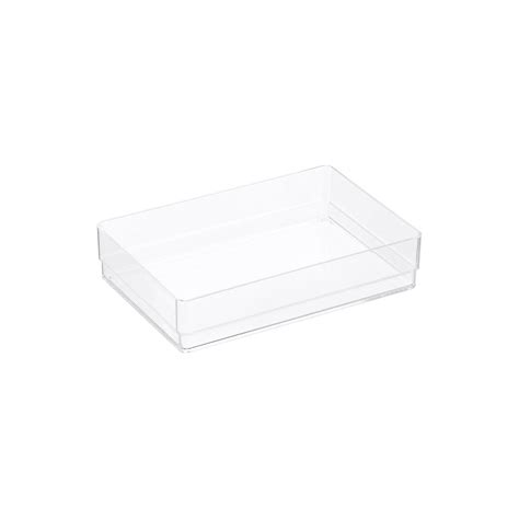 Acrylic Office Drawer Organizers The Container Store Acrylic Desk Drawer Organizer
