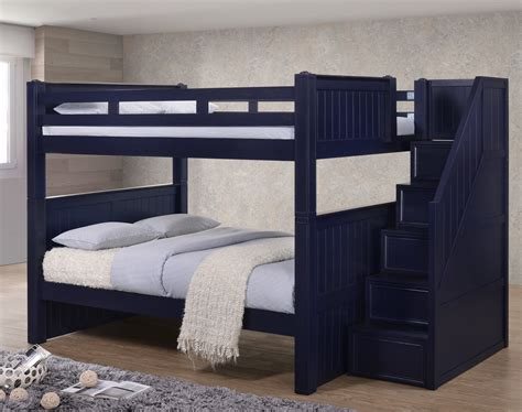 full size bunk beds with stairs dillon full over full bunk bed with stairs drawers