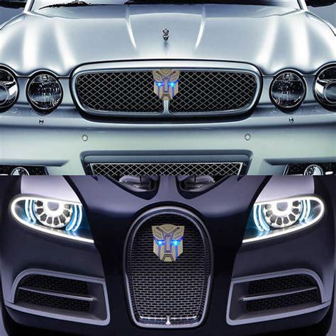Auto Sticker Transformers by New Led Car Sticker Transformers Badge Emblems Solar Flash