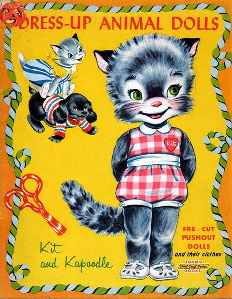 animal doll kit dress up animal paper dolls kit and kapoodle