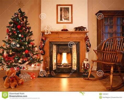 christmas living room stock image image of chair