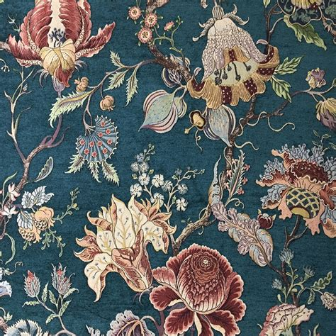 floral sofa fabric india deluxe green flower thick rayon chenille floral