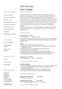 Childcare Resume Sle by Health Care Assistant Appraisal Sle Clipartsgram
