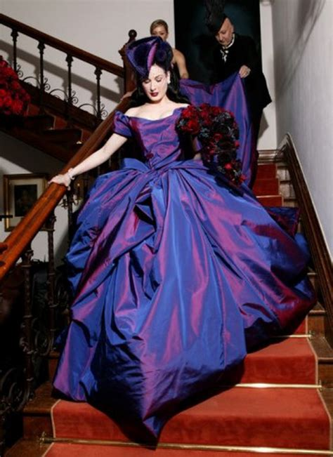 Or Fabulous Dita Teeses Purple Vivienne Westwood Wedding Dress by And The Wore Violet The Lovely Dita Teese S