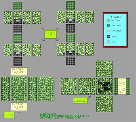 design pattern projects creeper cross stitch design minecraft project