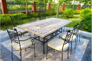 Outdoor Patio Table Tops 78 94 Quot Outdoor Patio Dining Table Mosaic Marble Top Ta