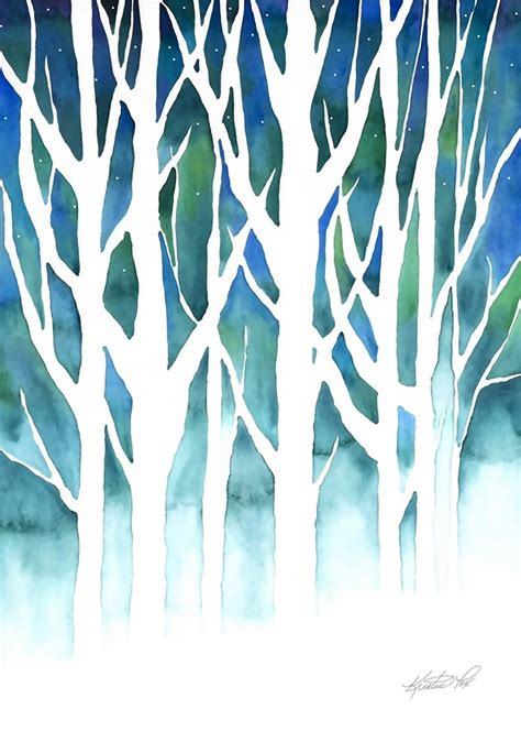 holiday artwork featuring christmas trees winter