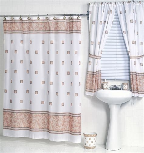 matching bathroom shower and window curtains windsor ivory fabric shower curtain