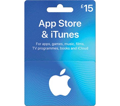 15 App Store Gift Card - buy itunes 163 15 app store itunes gift card free delivery currys