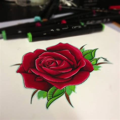 red rose tattoo 60 pictures of terrific golfian