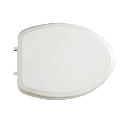 american standard toilet seats american standard collection elongated closed front toilet seat in white 5725 064 020 the home