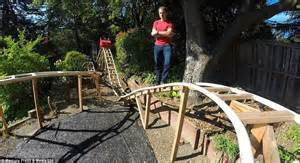 Backyard Clubhouse For Kids Californian Man Builds Roller Coaster In His Back Garden