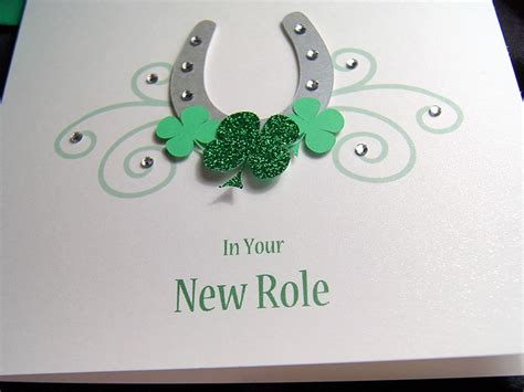 Handmade Luck Cards - lucky horseshoe handmade luck card
