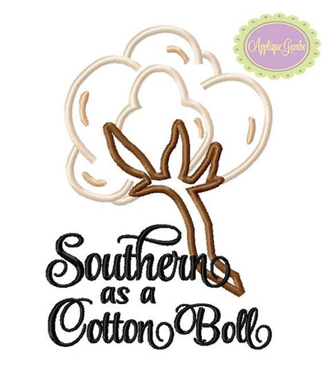 bol l design southern as a cotton boll machine by geauxbabyboutiquela