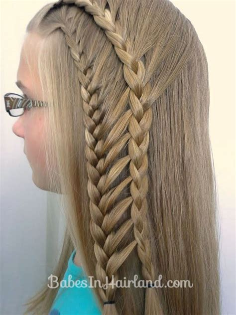 step by step ladder braid double half french ladder braids babes in hairland