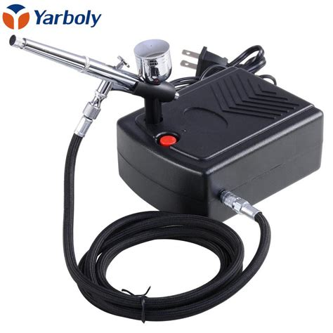 dual airbrush air compressor kit painting manicure craft cake spray model air