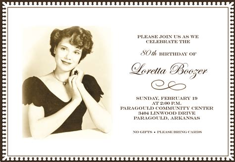 80th birthday invitations invitation ideas