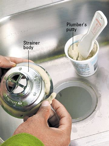 how to use plumbers putty on a bathroom sink drain how use plumbers putty kitchen how replace kitchen sink