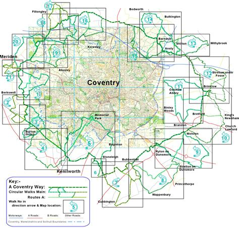 map uk coventry coventry walks a coventry way