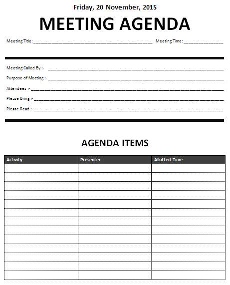 template for meeting name cards 15 meeting agenda templates excel pdf formats