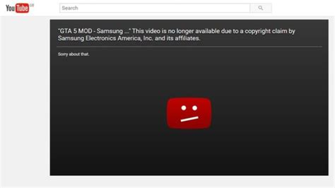 Copyright Claims by Samsung Issuing Copyright Claims To Remove Mocking