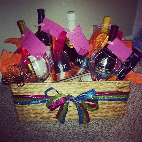 Wine Basket For Bridal Shower by Bridal Shower Wine Basket Shower The
