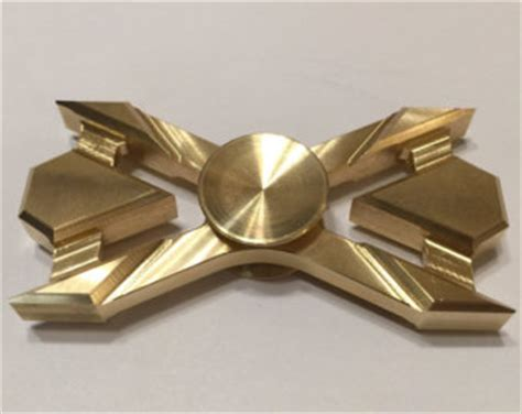 Fidget Spinner Ns 60 Triangle Golden Green Steel Premium T1310 1 brass fidget spinner etsy