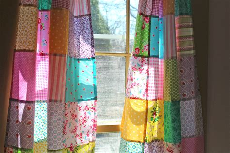 boho window curtains patchwork curtains set of 2 panels boho window treatment