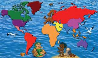 pics photos map of the world for kids printable