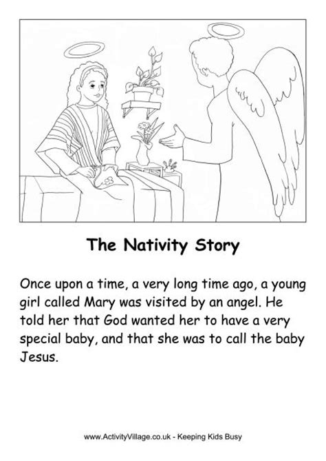 printable version of the nativity story story printables for preschool images