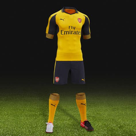 Arsenal Away 201617 Murah develado el arsenal fc away kit 2016 17 marca de gol