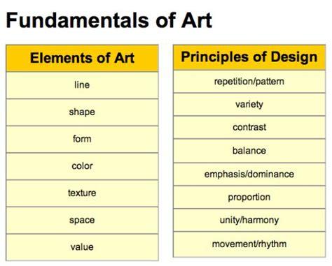 freebie elements and principles of art and design matrix tpt high schools design elements and art on pinterest