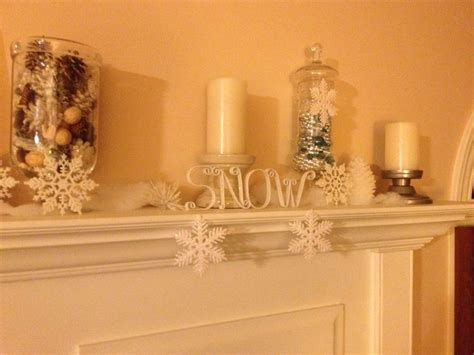 winter mantel decorations winter mantel fireplace decor