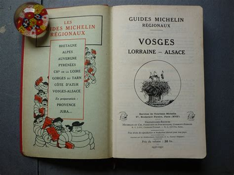 Guide Michelin R 233 Gional 1930 1931 Vosges Lorraine