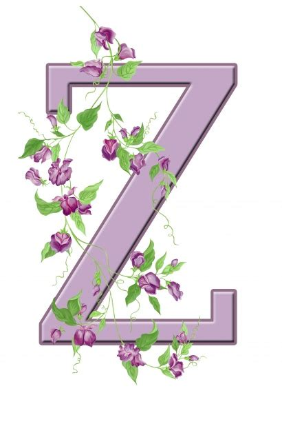 letter z floral initial free stock photo domain