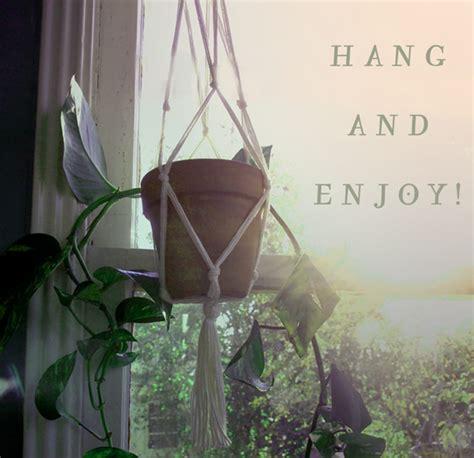 diy macrame hanging planter the bohemian collective diy macrame hanging planter by