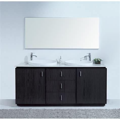 double sink for 30 inch cabinet cheshire 72 inch modern double sink vanity faux marble top