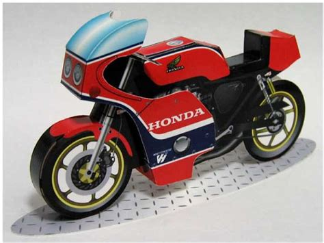 Papercraft Motorcycle - papercraft honda motorcycles