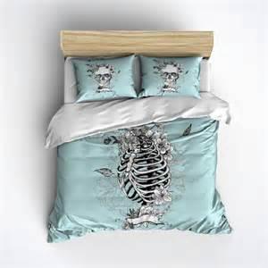 skeleton duvet cover blue skull bedding skull pillows and skeleton duvet